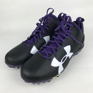 Under Armour | Mens Black Football Cleats Spine 13